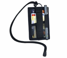 ACS-BDG-BLK: Hazard 4 Badger Lanyard Patch/Cards Holder w/Key Ring - Black