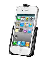 AP9U: RAM Model Specific Cradle for the Apple iPhone 4 & iPhone 4S WITHOUT CASE, SKIN OR SLEEVE