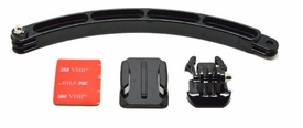 BGP78: Helmet mount w/ 8 inch arm, adhesive base and quick release adapter for GoPro Camera