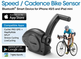 CS-20: i-gotU Speed/Cadence Bike Sensor for iPhone 4S 5 5S 5C, Samsung Galaxy S3 S4, Note 2 3, New HTC One and Other Android 4.3 devices with Bluetooth 4.0