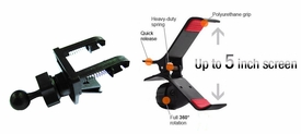 "GA-UVM+IG-A03: Spring Vent Mount with Universal bracket/cradle for GPS, SmartPhone up to 5"" screen"