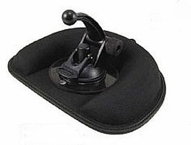 GN112: Deluxe Non-Skid / Friction Style Weighted Dash Mount with Safety Hook for Garmin GPS