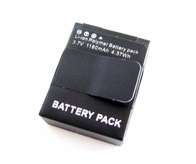 GP3BT+: i.Trek 1180mAh Rechargeable Battery for GoPro HD HERO3 3+ replaces AHDBT-302