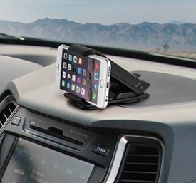 IG-CPDM: Universal Dashboard Clamp Mount w/ Sticky Suction Cup for SmartPhone, GPS