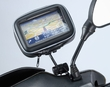 "ME-MM+WPCS: Universal Motorcycle Mirror Mount with Case for 4.3"" or 3.5"" Screen GPS Devices"