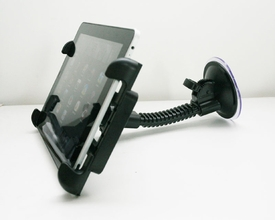 """ME-UTM2+MPH+ME-04: Heavy Duty Windshield Mount for iPad 1 2, Mini, Kindle Fire, Tablet with 5"""" ~ 9.7"""" screen"""