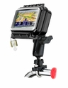 RAM-B-149Z-AQ6U: RAM Medium Wide Aqua Box Bike / Motorcycle Handlebar Mount for Garmin, Magellan, TomTom, Mio GPS Devices)