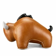 Zuny Bull ( Buloo) Animal Bookend - Tan