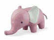 Zuny Classic Elephant Animal Bookend - Pink/White