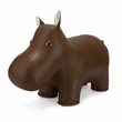 Zuny Classic Hippo Animal Bookend - Brown