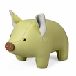 Zuny Classic Pig Animal Bookend - Cream