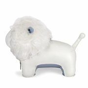 Zuny  Lion (Tumo) Animal Bookend - White