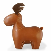 Zuny Moose ( Rudo ) Animal Bookend - Tan