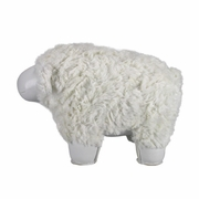 Zuny  Sheep (Nell) Animal Bookend - White/White
