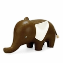 Zuny Small Elephant Animal Paperweight - Brown
