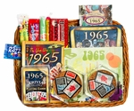 50th Wedding Anniversary Gift Basket with 1965 Stamps