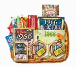 50th Wedding Anniversary Gift Basket with 1966 Stamps