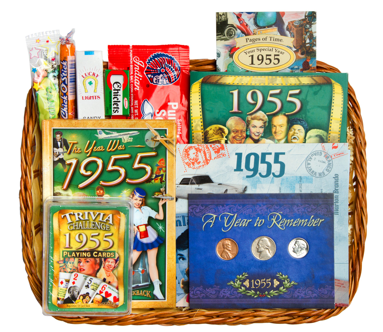 60th Anniversary Or 60th Birthday Gift Basket For 1955