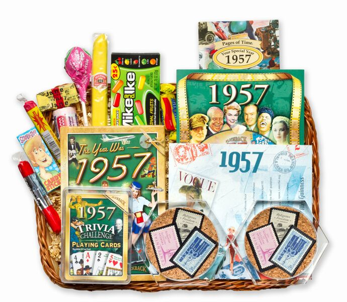60th Wedding Anniversary Gift Basket : 60th Anniversary Gift Basket60th Gift Basket with Stamps