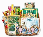 60th Anniversary Gift Basket - 60th Gift Basket with Stamps