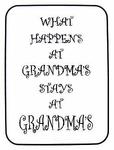Grandma Sign - What Happens at Grandma's