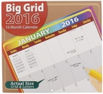 Big Grid Calendar for 2016