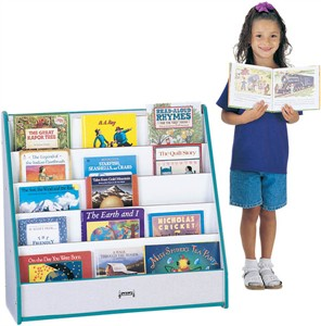 1 Sided Rainbow Accents Pick-a-Book Stand Flush Back - Free Shipping