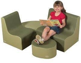 "10"" Medium Tot Contour Cozy Woodland 4 Piece Soft Furniture Group - Free Shipping"