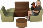"10"" Medium Tot Contour Cozy Woodland 6 Piece Soft Furniture Group"