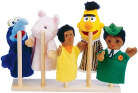 Jonti-Craft 10 Peg Puppet Stand by
