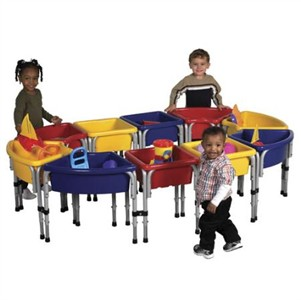 ECR4Kids 10 Station Hollow Sand & Water Play Center