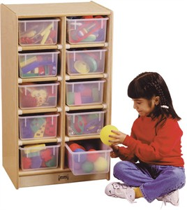 Jonti-Craft 10 Tray Mobile Storage Unit