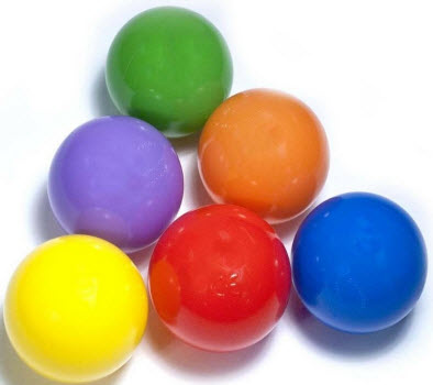 "100 Piece Six Color 3 1/8"" Ball Pit Balls"