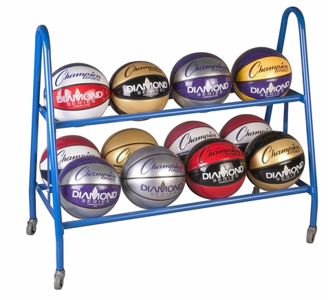 Champion Sports 12 Ball Rack w/ Casters