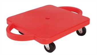 "12"" Red Scooter Board with Rounded Handles"