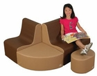 "12"" School Age Contour Cozy Woodland 4 Piece Soft Furniture Group"