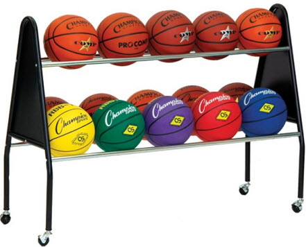 Champion Sports 15 Ball Cart w/ Casters