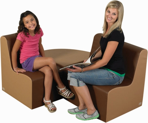 "15"" Bigger Age Contour Cozy Woodland Walnut 3 Piece Soft Furniture Group"