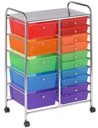 15 Drawer Mobile Organizer - Free Shipping