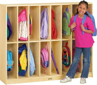 Jonti-Craft 16 Section Twin Trim Classroom Lockers