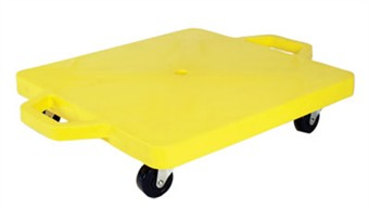 "16"" Yellow Scooter Board with Handles"