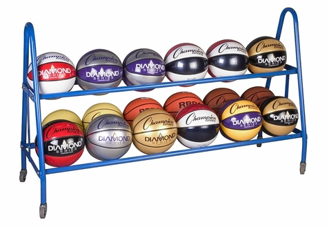 Champion Sports 18 Ball Rack w/ Casters