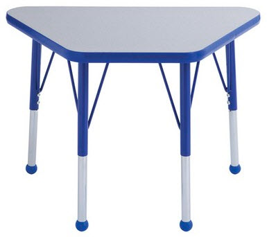 "18"" x 30"" Adjustable Trapezoid Child's Activity Table"