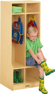 Jonti-Craft 2 Section Double Locker With Step
