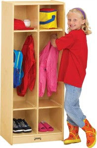 Jonti-Craft 2 Section Double Lockers