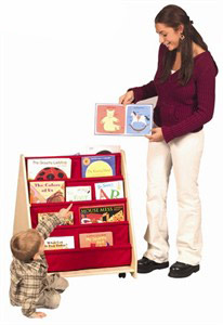2 Sided Canvas Book Display with Casters