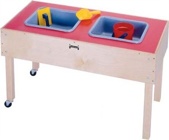Jonti-Craft 2 Tub Sand and Water Activity Table