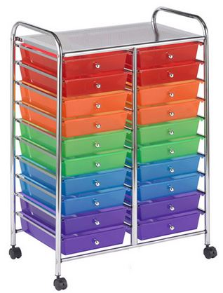 ECR4Kids 20 Drawer Mobile Organizer