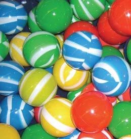 200 Piece Four Color Striped Ball Pit Balls - Free Shipping