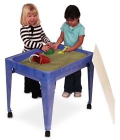 """ChildBrite 24"""" All-In-One Sand and Water Activity Center with Casters"""